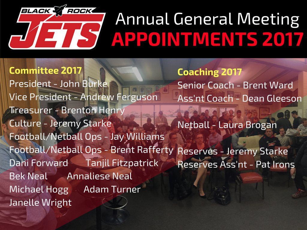 AGM 2017 Appointments