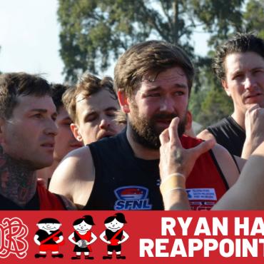 Ryan Handley Reappointed Senior Coach 2022