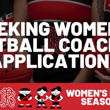 Applications Wanted: Women's Coach 2022